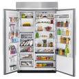 KitchenAid 30.0 Cu. Ft. 48 inch Built-in Side-by-Side Refrigerator with PrintShield™ Finish KBSN608ESS