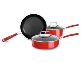 KitchenAid Aluminum Nonstick 5-Piece Set Empire Red KC2AS05BER