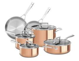 KitchenAid Tri-Ply Copper 10-Piece Set Satin Copper KC2PS10CP