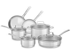 KitchenAid Stainless Steel 10-Piece Set Polished Stainless Steel KC2SS10LS
