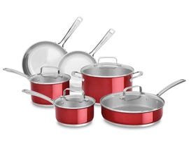 KitchenAid Stainless Steel 10-Piece Set Candy Apple Red KC2SS10PC