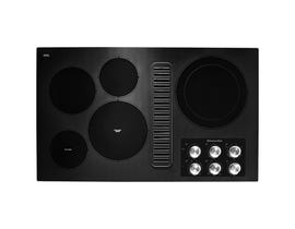 KitchenAid 36 inch electric downdraft cooktop in black KCED606GBL