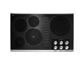 KitchenAid 36 inch electric downdraft cooktop in stainless steel KCED606GSS