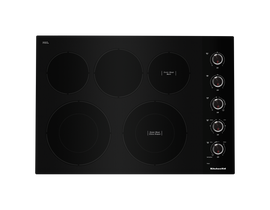 KitchenAid 30 inch 5-Element Electric Cooktop in Black KCES550HBL