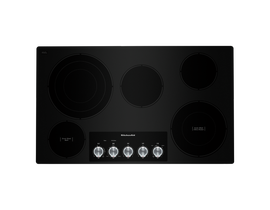"KitchenAid 36"" Electric Cooktop in Black KCES556HBL"