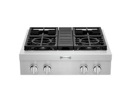"KitchenAid 30"" 4-Burner Commercial-Style Gas Rangetop in Stainless Steel KCGC500JSS"