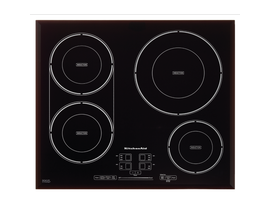 "KitchenAid 24"" Induction Cooktop in Black Stainless Steel KCIG704FBL"