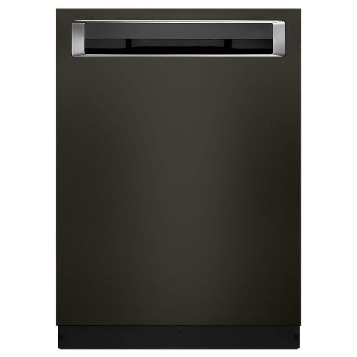 KitchenAid 24 Inch Dishwasher with Pocket Handle In Black Stainless KDPE334GBS