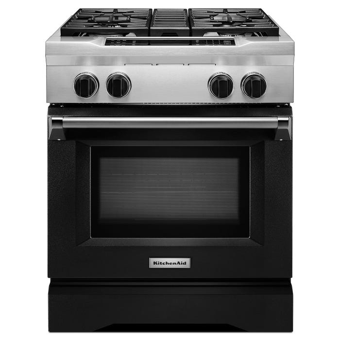 Marvelous Kitchenaid 30 Inch 4 1 Cu Ft Dual Fuel Range 4 Burner Freestanding In Black Kdrs407Vbk Interior Design Ideas Tzicisoteloinfo