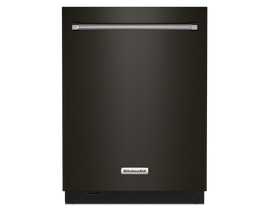 KitchenAid 24 inch Tall Tub Dishwasher in Black Stainless KDTM604KBS