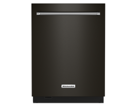 KitchenAid 24 inch Tall Tub Dishwasher in Black Stainless KDTM804KBS