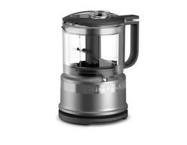 KitchenAid 3.5 Cup Mini Food Processor in Contour Silver KFC3516CU