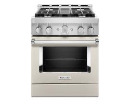 KitchenAid 30'' Smart Commercial-Style Gas Range with 4 Burners in Matte Milkshake KFGC500JMH