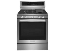 KitchenAid® 30-Inch 5-Burner Gas Convection Range KFGG500ESS