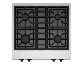 KitchenAid 30 inch 4 burner gas rangetop commercial style in stainless steel KGCU407VSS