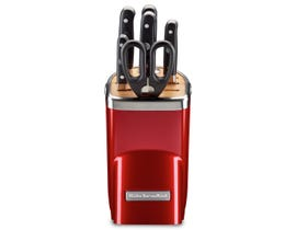 KitchenAid 7pc Professional Series Cutlery Set Candy Apple Red KKFMA07CA