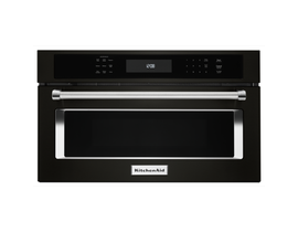 "KitchenAid 27"" 1.4 cu. ft. Built-In Microwave Oven with Convection Cooking in Black Stainless Steel KMBP107EBS"