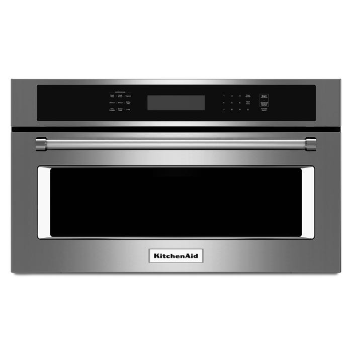 KitchenAid 27 inch 1.4 cu.ft. built-in microwave oven with convection cooking in stainless KMBP107ESS