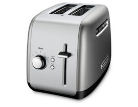 KitchenAid 2-Slice Toaster with Manual Lift lever in Contour Silver KMT2115CU