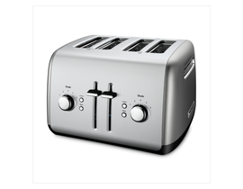 KitchenAid 4-Slice Toaster with Manual High-Lift Lever in Contour Silver KMT4115CU