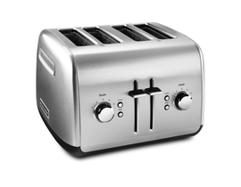 KitchenAid 4-Slice Toaster with Manual High-Lift Lever in Brushed Stainless Steel KMT4115SX