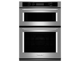 KitchenAid 27 inch 5.7 cu. ft. Combination Wall Oven with Even-Heat in Stainless Steel KOCE507ESS