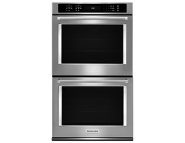 KitchenAid 30 inch 10.0 cu. ft. True Convection Double Wall Oven with Even Heat in Stainless Steel KODE500ESS