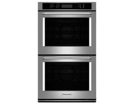 KitchenAid 27 inch 8.6 cu.ft. double wall oven with even heat true convection in stainless steel KODE507ESS