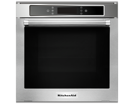"KitchenAid 24"" 2.6 cu. ft. Wall Oven with True Convection in Stainless Steel KOSC104FSS"