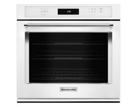 KitchenAid 27 inch 4.3 cu.ft. single wall oven with even heat true convection in white KOSE507EWH