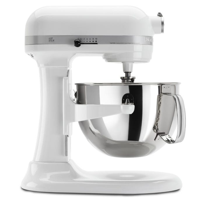 Kitchenaid Pro 600 Series 6 Quart Bowl Lift Stand Mixer In White Kp26m1xwh