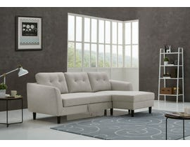Kwality Katie Collection Fabric Sofa Bed in Light Grey 1763