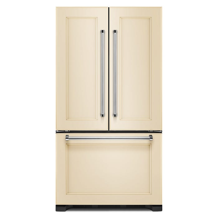 KitchenAid 36 inch 22 cu.ft. Counter Depth  French Door Refrigerator with Interior Dispense Panel Ready KRFC302EPA