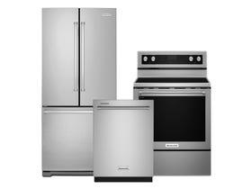 KitchenAid 3pc Appliance Package in Stainless Steel KRFF300ESS KDTE204KPS YKFEG500ESS