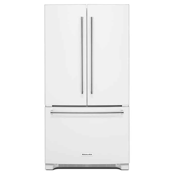 KitchenAid® 25 Cu. Ft. 36-Width Standard Depth French Door Refrigerator with Interior Dispense KRFF305EWH