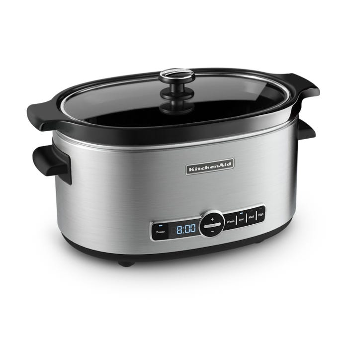 KITCHENAID 6-QUART SLOW COOKER WITH SOLID GLASS LID KSC6223SS