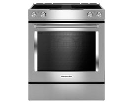 KitchenAid 30 inch 6.4 cu.ft. 4 element electric downdraft range in stainless steel KSEG950ESS