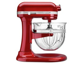 KitchenAid Professional 6500 Design Series bowl-lift Stand Mixer in Candy Apple Red KSM6521XCA