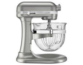 KitchenAid Professional 6500 Design Series bowl-lift Stand Mixer in Sugar Pearl Silver KSM6521XSR