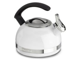 KitchenAid 2.0-Quart Kettle with Full Stainless Steel Handle and Trim Band in White KTEN20CBWH