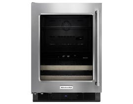 KitchenAid 24 inch 4.8 cu.ft beverage cellar in stainless KUBL204ESB
