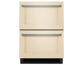 KitchenAid 24 inch 4.7 cu.ft. double refrigerator drawer panel ready KUDR204EPA