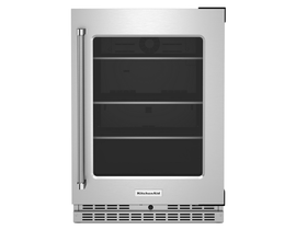KitchenAid 24 inch 5.2 cu. ft. Under Counter Refrigerator in Stainless Steel KURR314KSS