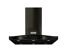 KitchenAid 36 inch Island Range Hood with 3-speed in Black Stainless Steel KVIB606DBS