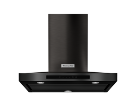 KitchenAid 30 inch Wall Mount Range Hood in Black Stainless Steel KVWB600HBS
