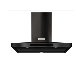 KitchenAid 36 inch Wall Mount Range Hood with 3-Speed in Black Stainless Steel KVWB606HBS
