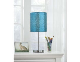 Signature Design by Ashley Table Lamp in Teal/Silver Finish L857714