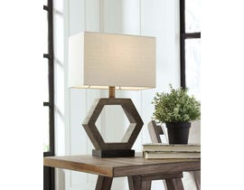Signature Design by Ashley Table Lamp in Gray/Brown L857764