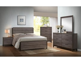 Flair Langley Series 6pc Queen Bedroom Set in Antique Grey