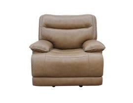 PR Furniture Lanette Leather Gel Glider Power Recliner in Caramel 3754